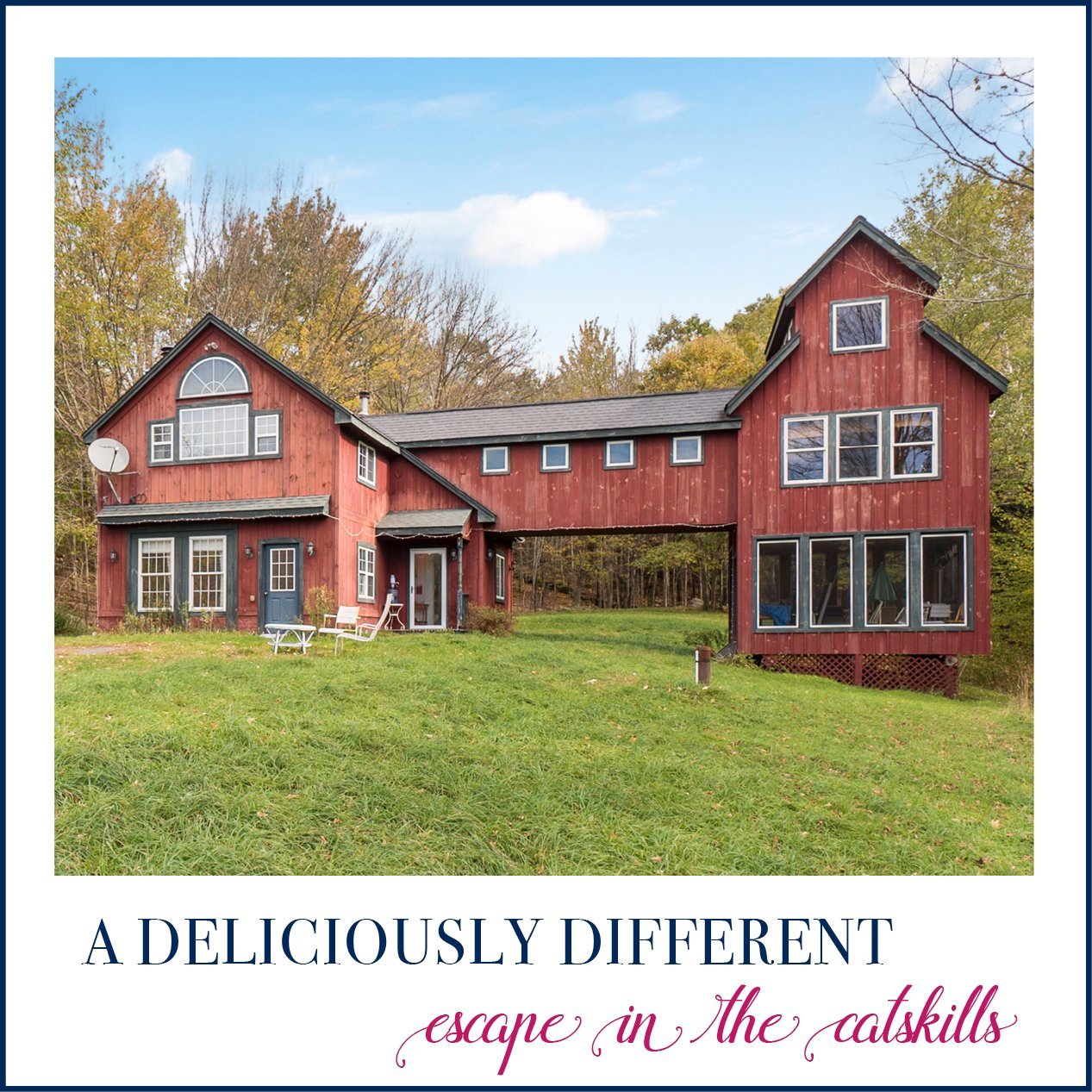 Amazing A Deliciously Different Catskills Cottage Greene County Ny Home Remodeling Inspirations Genioncuboardxyz