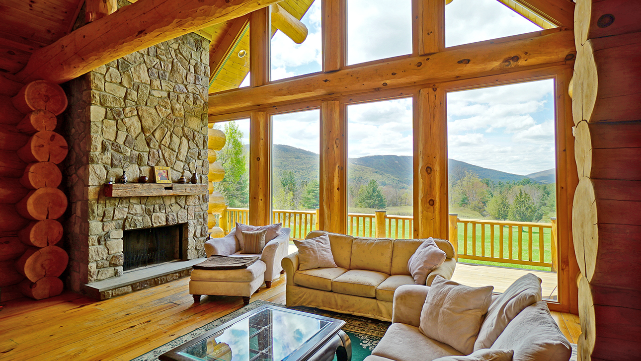 Upstate ny luxury properties for sale for Log cabins upstate ny