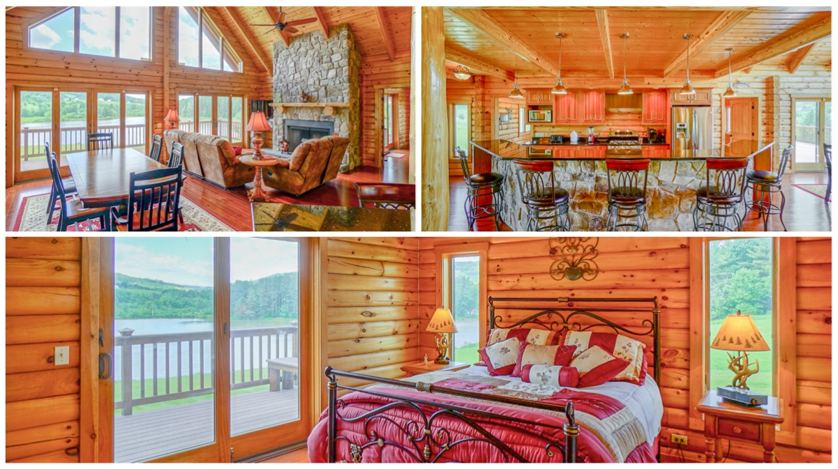 upstate ny log homes for sale